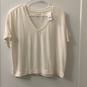 🚨5/$20!! NWT off white cropped t